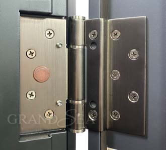 precision steel security door