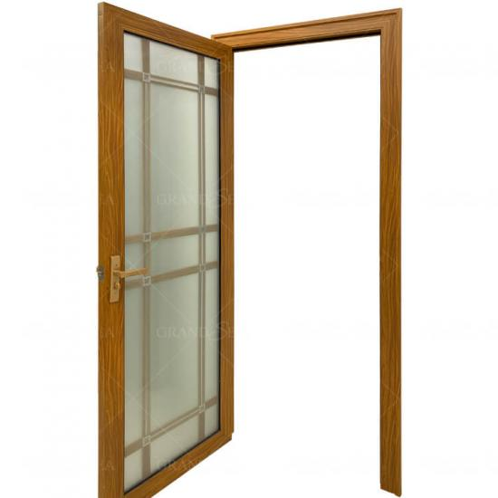 aluminum glass swing door